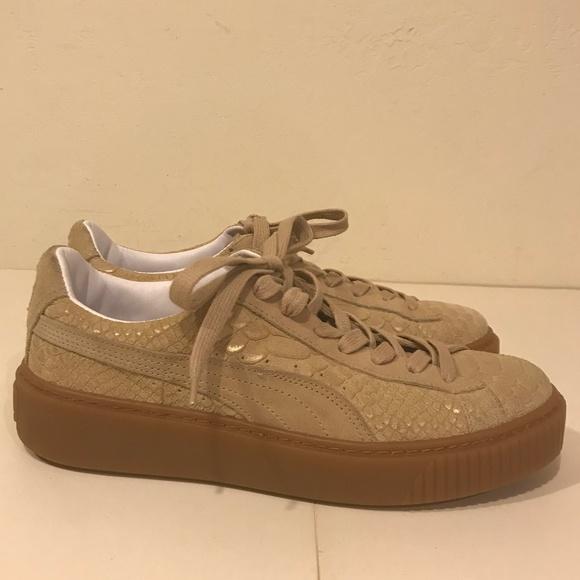 Puma basket platform exotic sneakers